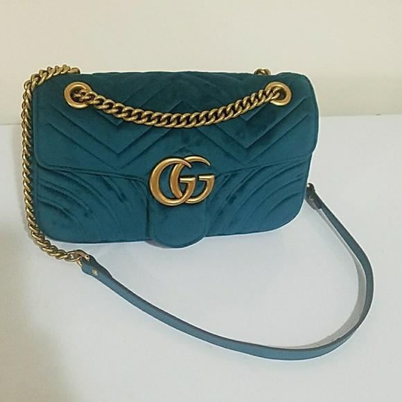 36abf35eea88 Gucci Bags | Velvet Bag Teal Color | Poshmark